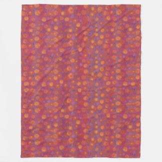 Candy Field, abstract floral pattern, pink orange Fleece Blanket