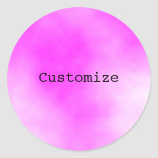Candy floss - Template Round Stickers