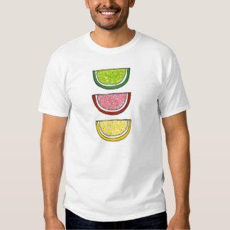 Candy Fruit Slice Cherry Lemon Lime Slices Tee