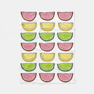 Candy Fruit Slice Lemon Lime Candies Food Blanket