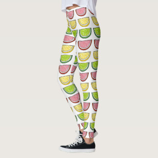 Candy Fruit Slice Lemon Lime Cherry Citrus Candies Leggings