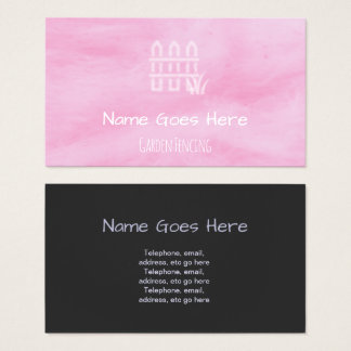 """""""Candy"""" Garden Fencing Business Cards"""