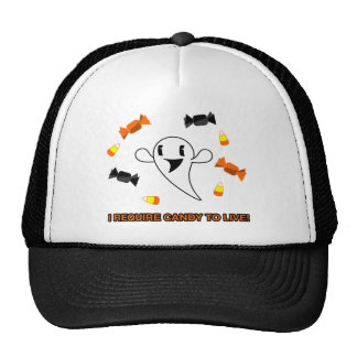 Candy Ghost Mesh Hats