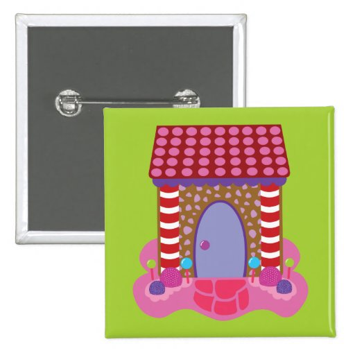 Candy Gingerbread House Pin