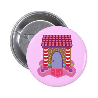 Candy Gingerbread House Pinback Button