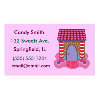 Candy Gingerbread House Business Cards
