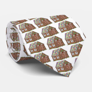 Candy Gingerbread House Christmas Holiday Necktie