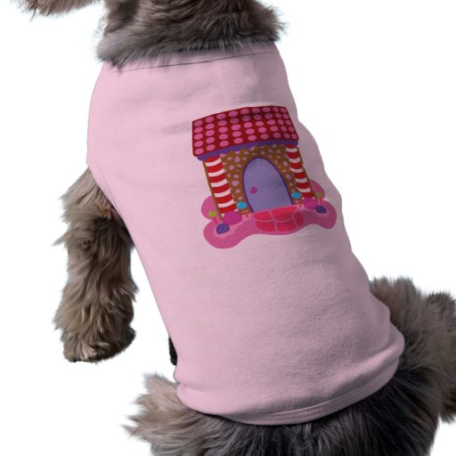 Candy Gingerbread House Dog Shirt