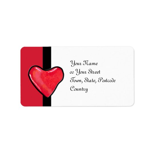 Candy Heart 1 Address Label