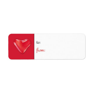 Candy Heart 2 Gift Tag Label Return Address Label
