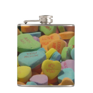 Candy Heart Be Mine I love you Texture Template Flask