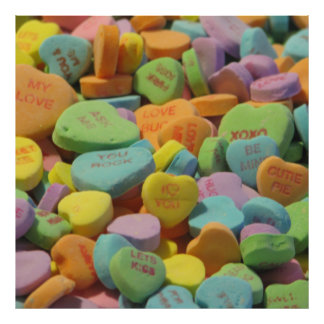 Candy Heart Be Mine I love you Texture Template Photographic Print