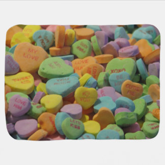 Candy Heart Be Mine I love you Texture Template Pramblankets