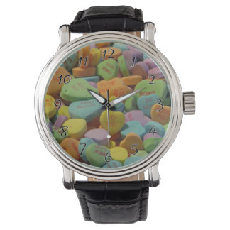 Candy Heart Be Mine I love you Texture Template Watch