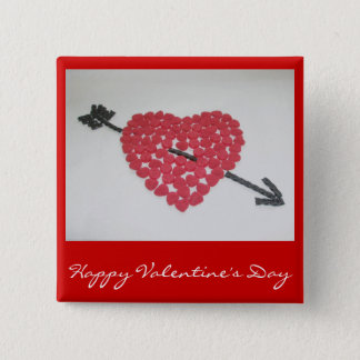 Candy Heart Happy Valentine's Day Badge