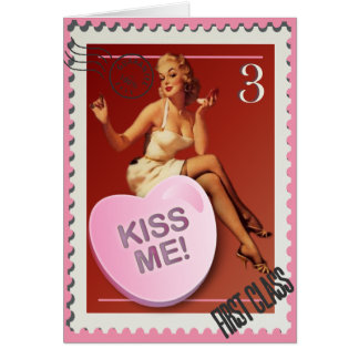 Candy Heart KissMe! Kitsch Bitsch Valentine Card