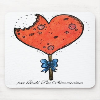 Candy heart mouse pad