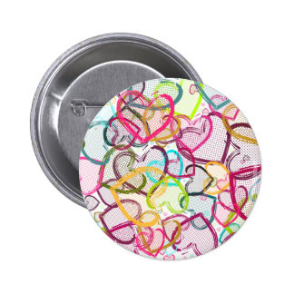 Candy Hearts 6 Cm Round Badge