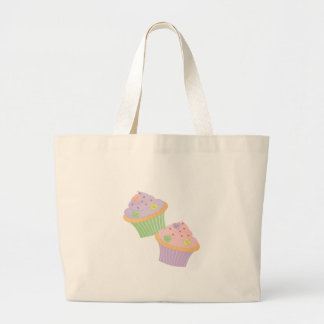 Candy Hearts Cupcakes Tote Bags