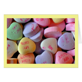 Candy Hearts for Valentine's Day #2 Greeting Card