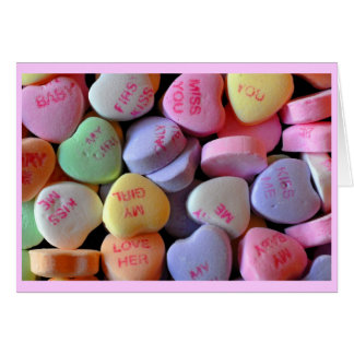 Candy Hearts for Valentine's Day Greeting Card