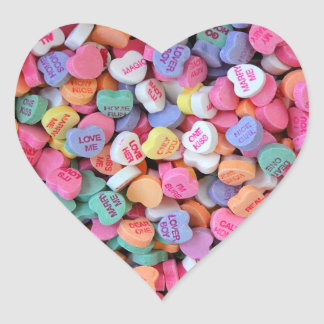 Candy Hearts Heart Sticker