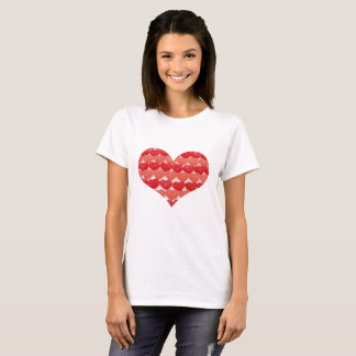 Candy Hearts In A Row, Heart Shaped T-Shirt