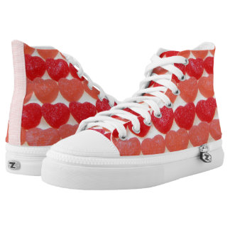 Candy Hearts In A Row High Tops