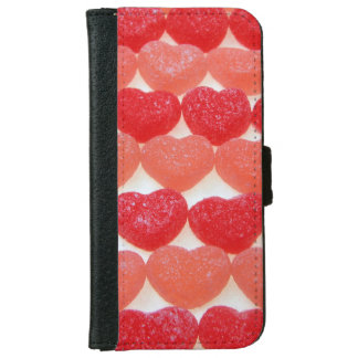Candy Hearts In A Row iPhone 6 Wallet Case