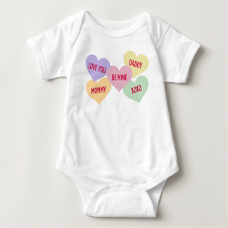 Candy Hearts | Valentine's Day Baby Bodysuit