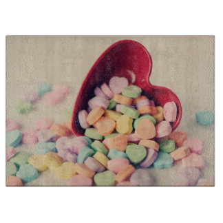 Candy Hearts Valentines Day Cutting Boards
