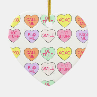 Candy Hearts Valentine's Day Heart Ornament