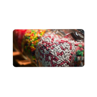 Candy Jars Address Label