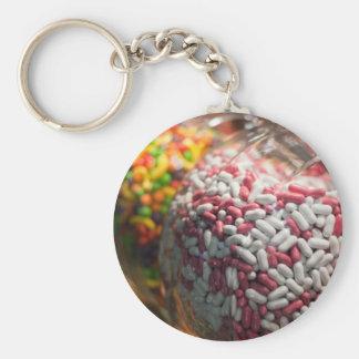 Candy Jars Basic Round Button Key Ring