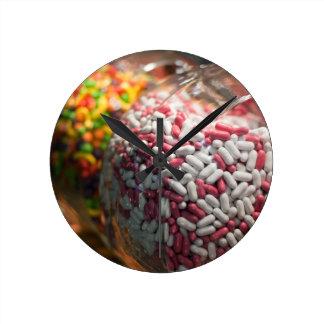 Candy Jars Round Clock