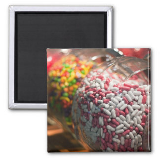 Candy Jars Square Magnet