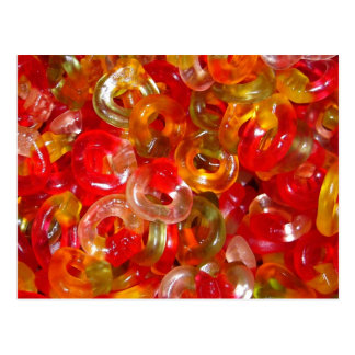 Candy Jelly Rings Postcard