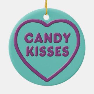 Candy Kisses Ceramic Ornament