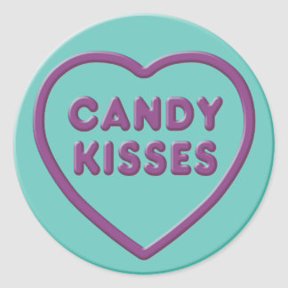 Candy Kisses Classic Round Sticker