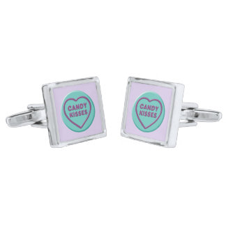 Candy Kisses Silver Finish Cufflinks