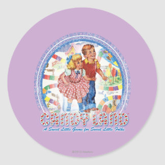 Candy Land - A Sweet Little Game Classic Round Sticker