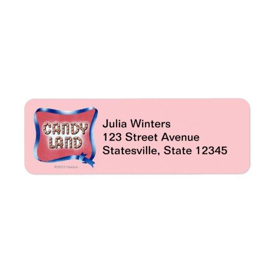 Candy Land Aged Logo Return Address Label