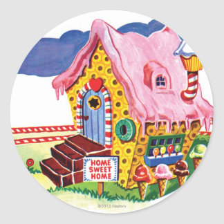 Candy Land Ginger Bread House Round Sticker