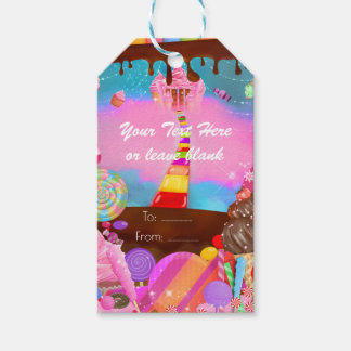 Candy Land Party Fantasy Birthday Custom Favor Gift Tags