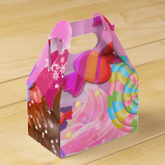 Candy Land Party Fantasy Sweets Birthday Favour Box