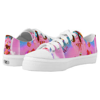 Candy Land Sweets Candy Cupcakes Chocolate Sugar Printed Shoes