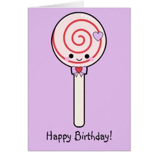 Candy Lollipop Happy Birthday Card