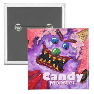 Candy Monster Button