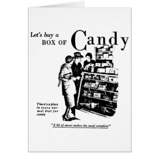Candy Newspaper Advertisement 1930 Card