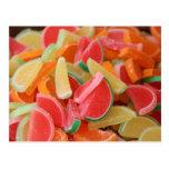 Candy orange slice post card